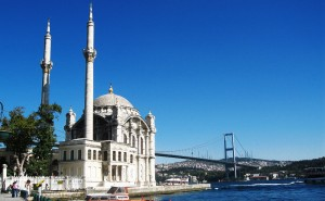 Ortaköy area and Bosphorus