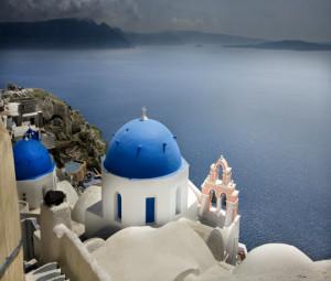 Cycladic chapel, Santorini,