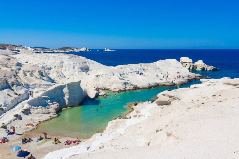 Sarakiniko Beach in Milos