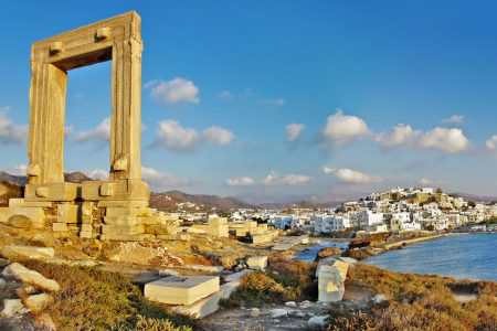 Naxos harbor from Portara