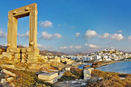 Naxos harbor from Portara