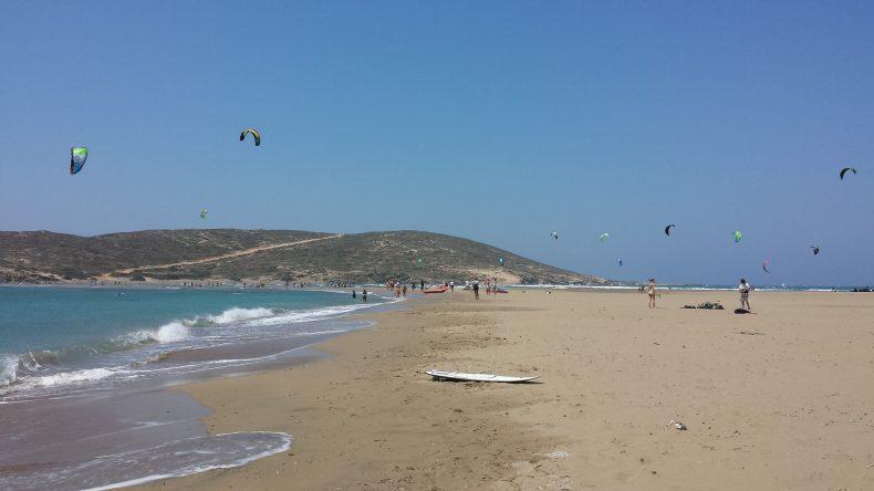 Kitesurfing in Prassonissi
